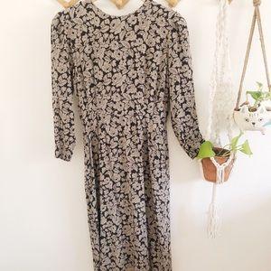 Albert Nipon vintage silk floral dress